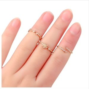 Jewelry - PREVIEW Dainty Gold Crystal Wrap Bypass Ring